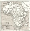 AFRICA: Anglican Bishoprics in Africa;1922 map